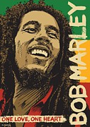 Rasta Prints - Marley Pop Art Print by Jim Zahniser