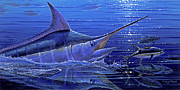 Blue Marlin Paintings - Marlin mirror Off0022 by Carey Chen