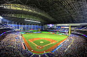 Marlins Prints - Marlins Park Print by Shawn Everhart