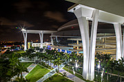 Marlins Prints - Marlins Park Stadium Miami 14 Print by Rene Triay Photography
