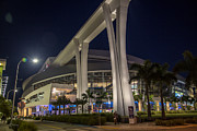 Marlins Prints - Marlins Park Stadium Miami 2 Print by Rene Triay Photography