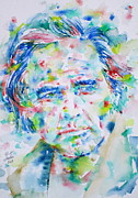 Marlon Brando Framed Prints - MARLON BRANDO - watercolor portrait Framed Print by Fabrizio Cassetta