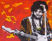 Stratocaster Drawings Prints - Marmalade Skies Print by Eric Dee