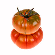 Color  Colorful Prints - Marmande tomatoes Print by Jane Rix