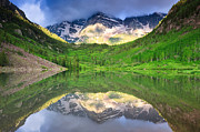 Best Selling Posters - Maroon Bells Mirror Poster by Adam Pender