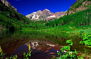 Aspen Prints - Maroon Bells Reflection Print by John Hoffman