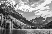 Clouds Photographs Posters - Maroon Lake Poster by Aaron Spong