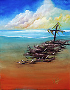 Sea Paintings - Marooned by David Kacey