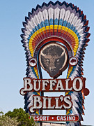 Marquee Buffalo Bills Resort Casino Primm Nevada Print by Robert Ford