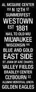 University Of Wisconsin Posters - Marquette College Town Wall Art Poster by Replay Photos