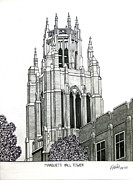 Historic Buildings Drawings Framed Prints - Marquette University Framed Print by Frederic Kohli