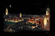 Marrakesh Paintings - Marrakesh Midnight by Andrew Roy Thackeray