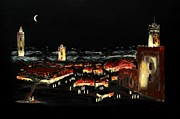 Marrakesh Paintings - Marrakesh Midnight II by Andrew Roy Thackeray