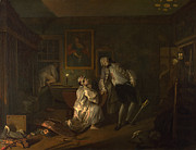 Famous Artists - Marriage A-la-Mode The Bagnio by William Hogarth