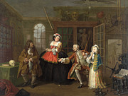 Famous Artists - Marriage A-la-Mode The Inspection by William Hogarth