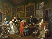 Famous Artists - Marriage A-la-Mode The Marriage Settlement by William Hogarth