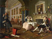 Famous Artists - Marriage A-la-Mode The Tete a Tete by William Hogarth