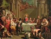 Water Into Wine Paintings - Marriage feast at Cana by Gaetano Gandolfi