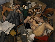 Cigars Paintings - Married Life by Roger de la Fresnaye