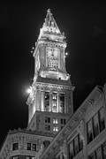 Town Clock Tower Framed Prints - Marriott Custom House Framed Print by Joann Vitali