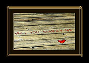Marriage Proposal Framed Prints - Marry Me Framed Print by Carolyn Marshall