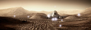 Science Fiction Prints - Mars Habitat - Valley End Print by Bryan Versteeg