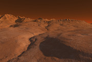 Imaginary Planet Posters - Mars Landscape Poster by Fairy Fantasies