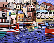 Cubist Digital Art Framed Prints - Marseille France Framed Print by Anthony Falbo