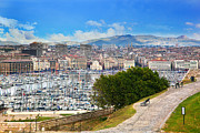 Famous Art - Marseille France panorama by Michal Bednarek