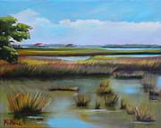 Marsh At Yellow Bluff Print by Karen Macek