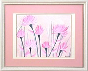 Original  By Artist Paintings - Marsh Flowers by Ron Davidson