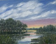 Marsh Scene Paintings - Marsh Sketch # 4 by Kathleen McDermott