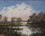 Marsh Scene Paintings - Marsh Sketch # 5 by Kathleen McDermott