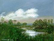 Marsh Scene Paintings - Marsh Sketch by Kathleen McDermott