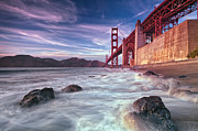 Marshall Prints - Marshall beach San Francisco sunset colors Print by David Yu