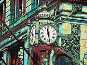 Fields Digital Art Prints - Marshall Fields Clock Chicago Print by Jane Schnetlage