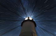 Star Gazing Photos - Marshall Lighthouse Star Zoom by John Vose