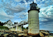 Maine Shore Originals - Marshall Point Light From The Rocks by Carolyn Fletcher