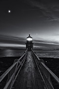 New England Lighthouse Prints - Marshall Point Lighthouse at Twilight II Print by Clarence Holmes