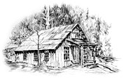 Discovery Drawings - Marshalls Cabin by Jonni Hill