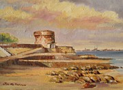 Dublin Painting Originals - Martello Tower by Jim Mc Partlin