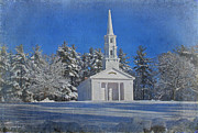 Martha Mary Chapel In Winter Print by Jayne Carney