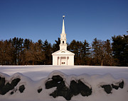 Martha Mary Chapel Framed Prints - Martha-Mary Chapel Snowy Wall Framed Print by Mark Valentine