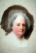 Cora Wandel Framed Prints - Martha Washington The Athenaeum Portrait -- 1 Framed Print by Cora Wandel