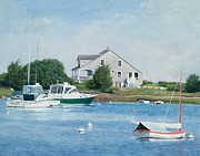 Cape Cod Paintings - Marthas Heaven Cape Cod by OMalley Keyes
