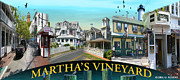 Gerry Robins Prints - Marthas Vineyard Collage Print by Gerry Robins