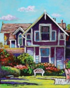Cape Cod Paintings - Marthas Vineyard Cottage by Eve  Wheeler
