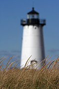 Fall Photos Posters - Marthas Vineyard Edgartown Lighthouse Poster by Juergen Roth