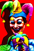 Spooky Digital Art - Marti Gras Carnival Clown 20130129v1 by Wingsdomain Art and Photography