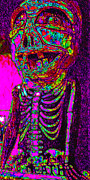 Laughs Posters - Marti Gras Carnival Death Skeleton 20130129v2 Poster by Wingsdomain Art and Photography
